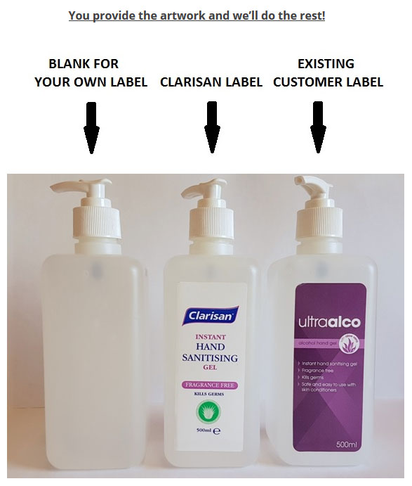 Own Brand Products | Private Label Hygiene | Clarisan
